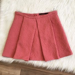 Zara Quilted Pleated Skirt